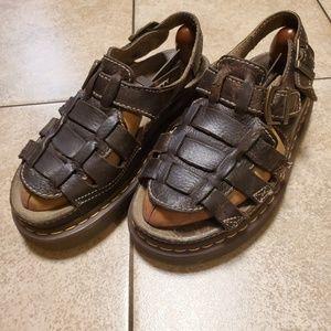 ✌Dr.Martens Arc Grizzly brown sandals mens sz10